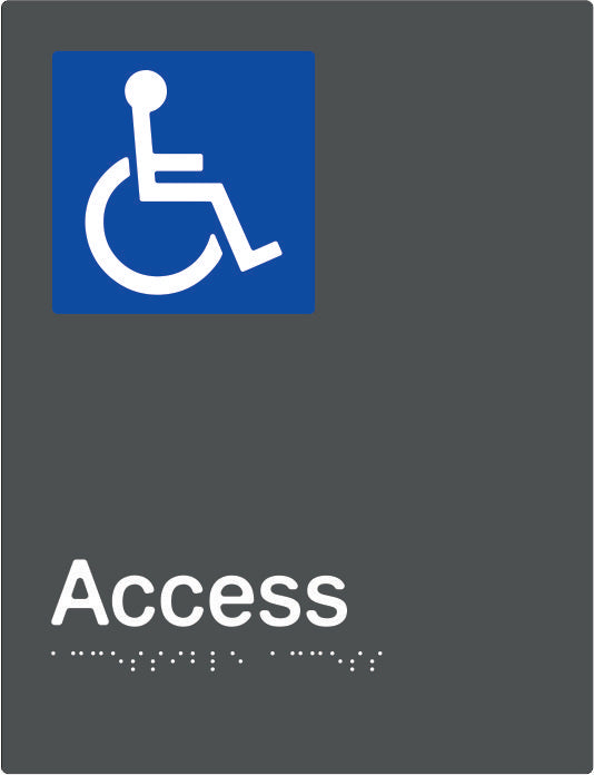 Accessible Access Braille and tactile sign (PBAGy-AAccess)