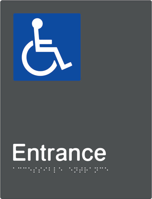 Accessible Entrance Braille and tactile sign (PBAGy-AEntrance)