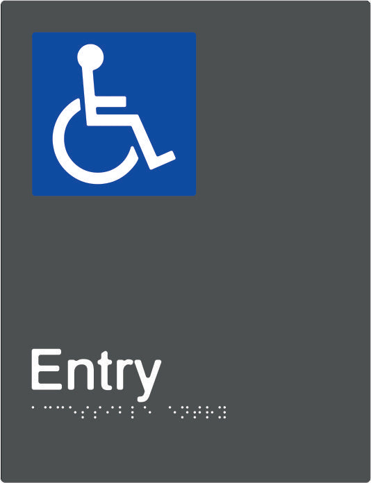 Accessible Entry Braille and tactile sign (PBAGy-AEntry)
