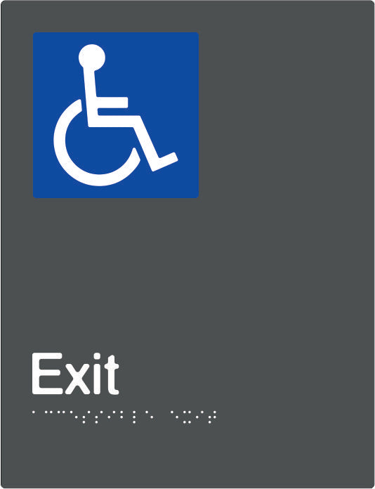 Accessible Exit Braille and tactile sign (PBAGy-AExit)