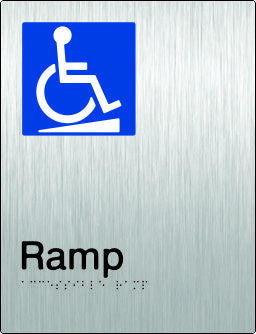 Accessible Ramp Braille and tactile sign (PB-SSARamp)