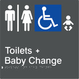 Airlock for Male, Female & Accessible Toilets & Baby Change Braille & tactile sign (PBA-AUATABC)