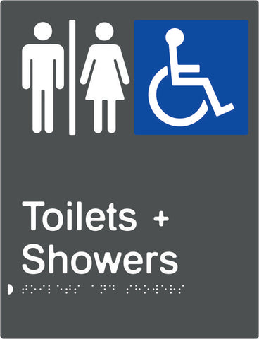 Airlock for Male, Female & Accessible Toilets & Shower Braille & tactile sign (PBAGy-AUATAS)