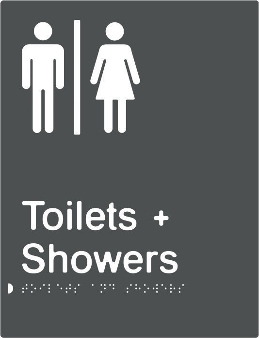 Airlock for Male & Female Toilets & Shower Braille & tactile sign (PBAGy-AUTAS)