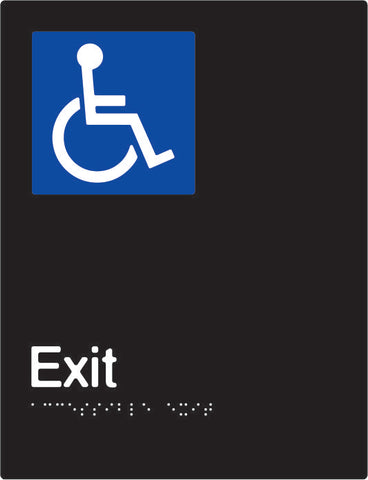 Accessible Exit Braille and tactile sign (PBABk-AExit)