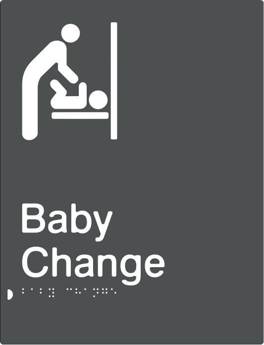 Baby Change Braille & tactile sign (PBAGy-BC)
