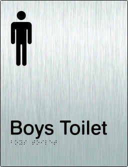 Boys Toilet Braille & tactile sign (PB-SSBT)