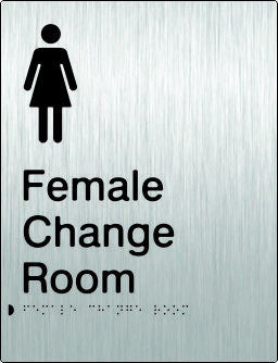 Female Change Room Braille & tactile sign (PB-SSFCR)