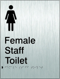 Female Staff Toilet Braille & tactile sign (PB-SSFsT)