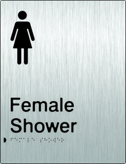 Female Shower Braille & tactile sign (PB-SSFS)