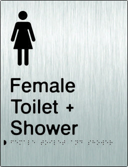 Female Toilet & Shower Braille & tactile sign (PB-SSFTAS)