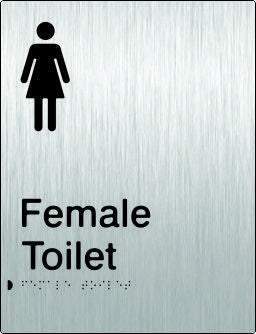 Female Toilet Braille & tactile sign (PB-SSFT)
