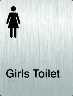 Girls Toilet Braille & tactile sign (PB-SSGT)
