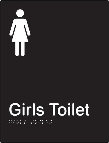 Girls Toilet Braille & tactile sign (PBABk-GT)