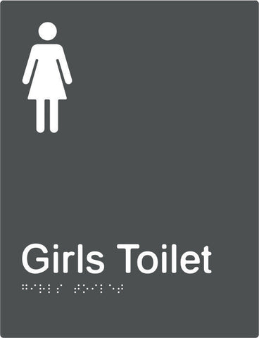 Girls Toilet Braille & tactile sign (PBAGy-GT)