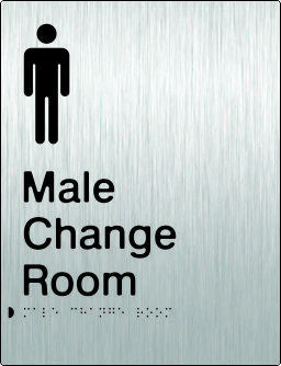 Male Change Room Braille & tactile sign (PB-SSMCR)
