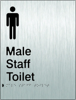 Male Staff Toilet Braille & tactile sign (PB-SSMsT)