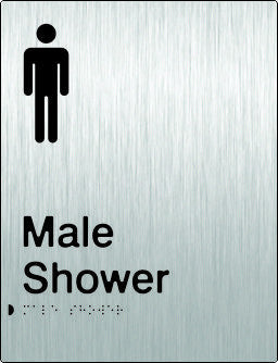Male Shower Braille & tactile sign (PB-SSMS)