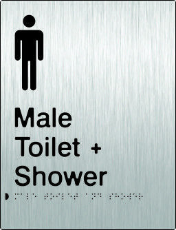 Male Toilet & Shower Braille & tactile sign (PB-SSMTAS)