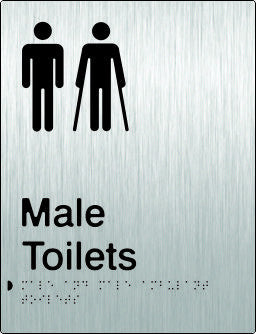 Male & Male Ambulant Toilets Braille & tactile sign (PB-SSMTMambT)