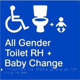 Accessible All Gender Toilet & Baby Change Right Hand Transfer (PB-AAGTABCRH)