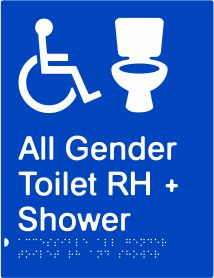 All Gender Accessible Toilet & Shower Right Hand Transfer (PB-AAGTASRH)