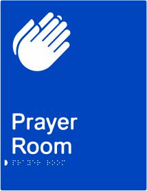 Prayer Room Braille & tactile sign (PB-Prayer)