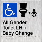 Accessible All Gender Toilet & Baby Change Left Hand Transfer (PB-SSAAGTABCLH)