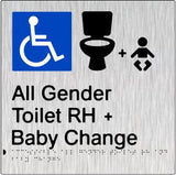 Accessible All Gender Toilet & Baby Change Right Hand Transfer (PB-SSAAGTABCRH)
