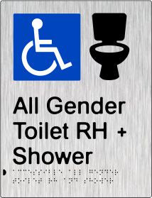 All Gender Accessible Toilet & Shower Right Hand Transfer (PB-SSAAGTASRH)