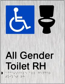 All Gender Accessible Toilet Right Hand Transfer (PB-SSAAGTRH)