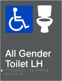 All Gender Accessible Toilet Left Hand Transfer (PBAGy-AAGTLH)