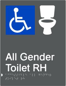 All Gender Accessible Toilet Right Hand Transfer (PBAGy-AAGTRH)