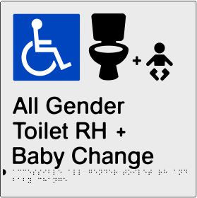 Accessible All Gender Toilet & Baby Change Right Hand Transfer (PBS-AAGTABCRH)