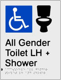 All Gender Accessible Toilet Toilet & Shower Left Hand Transfer (PB-SNAAAGTASLH)