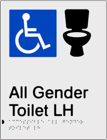 All Gender Accessible Toilet Left Hand Transfer (PB-SNAAAGTLH)