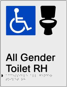 All Gender Accessible Toilet & Shower Right Hand Transfer (PB-SNAAAGTRH)