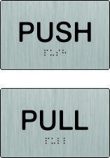 Push / Pull Braille & tactile signs (PB-SSPPH)