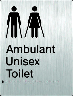 Unisex Ambulant Toilet Braille & tactile sign (PB-SSUambT)