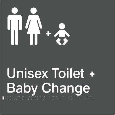 Unisex Toilet & Baby Change Braille & tactile sign (PBAGy-UTABC)