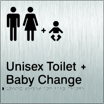 Unisex Toilet & Baby Change Braille & tactile sign (PB-SSUTABC)