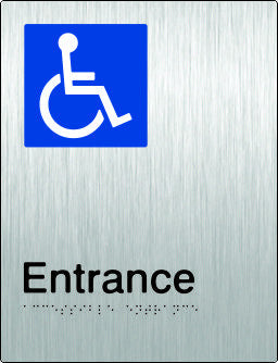 Accessible Entrance Braille and tactile sign (PB-SSAEntrance)