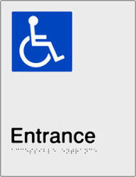 Accessible Entrance Braille and tactile sign (PBS-AEntrance)