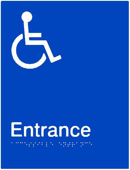 Accessible Entrance Braille and tactile sign (PB-AEntrance)
