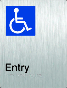Accessible Entry Braille and tactile sign (PB-SSAEntry)