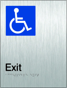 Accessible Exit Braille and tactile sign (PB-SSAExit)