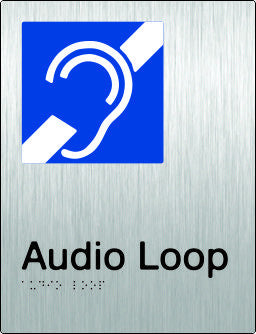 Audio Loop Braille & tactile sign (PB-SSAL)