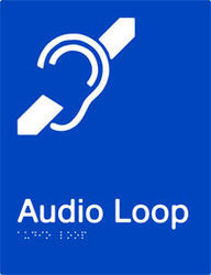 Audio Loop Braille and tactile sign (PB-AL)