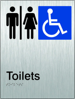 Airlock Male, Female & Accessible Toilets Braille & tactile sign (PB-SSAUAT)
