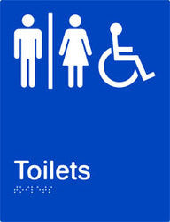 Airlock Braille and tactile sign for male, female and accessible toilets (PB-AUAT)